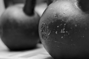 kettlebell, training, gym